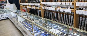 Firearms at Heaths Pawn shop